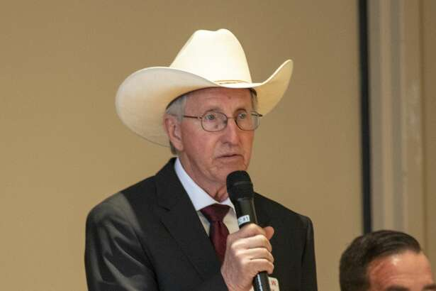 Ned Luscombe a Republican candidate for Congress District 11 speaks at a forum held by the Ector County Republican Women on Wednesday, Jan. 15, 2019 at the Odessa Country Club. Jacy Lewis/Reporter-Telegram