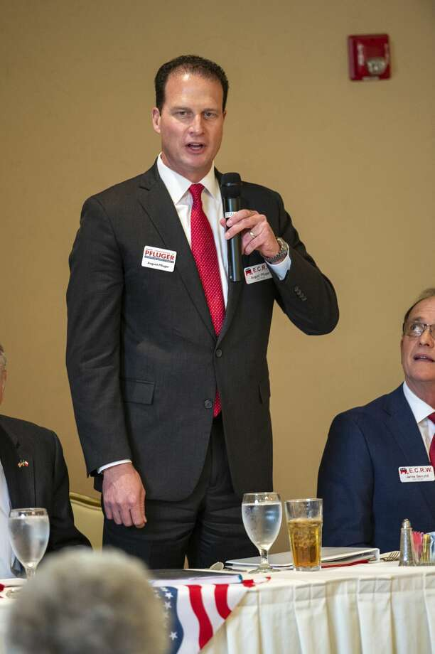 August Pfluger a Republican candidates for Congress District 11 talks during a forum held by the Ector County Republican Women on Wednesday, Jan. 15, 2019 at the Odessa Country Club. Jacy Lewis/Reporter-Telegram Photo: Jacy Lewis/Reporter-Telegram