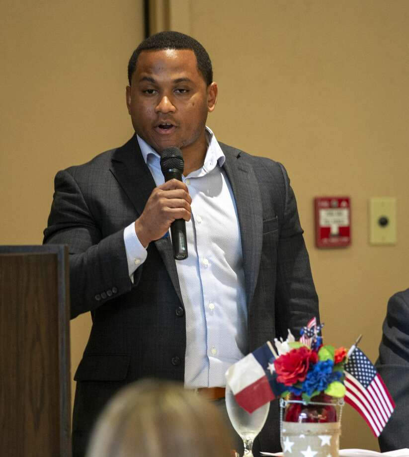 Brandon Batch a Republican candidates for Congress District 11 speaks at a forum held by the Ector County Republican Women on Wednesday, Jan. 15, 2019 at the Odessa Country Club. Jacy Lewis/Reporter-Telegram Photo: Jacy Lewis/Reporter-Telegram