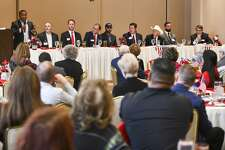 Republican candidates for Congress District 11 attend a forum held by the Ector County Republican Women on Wednesday, Jan. 15, 2019 at the Odessa Country Club. Jacy Lewis/Reporter-Telegram