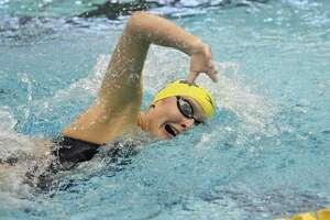 University of Michigan swimmer Kaitlynn Sims. A 2019 graduate of Montgomery High School.
