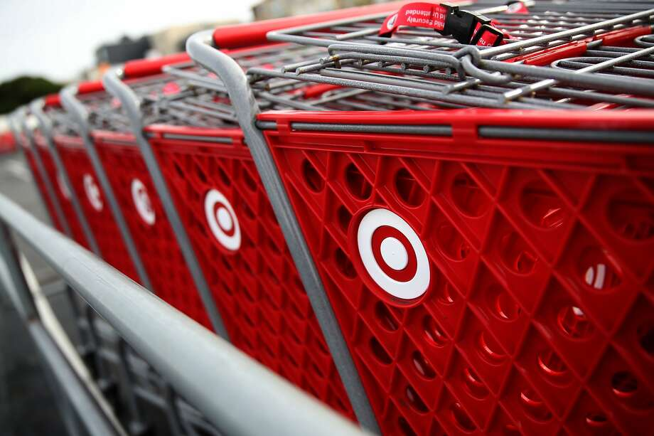 SAN FRANCISCO, CALIFORNIA - JANUARY 15: The Target logo is displayed on shopping carts outside of a Target store on January 15, 2020 in San Francisco, California. Shares of big box retailer Target fell after the company reported that same-store sales during November and December inched up only 1.4%, compared to a more robust growth of 5.7% one year ago. (Photo by Justin Sullivan/Getty Images) Photo: Justin Sullivan, Getty Images