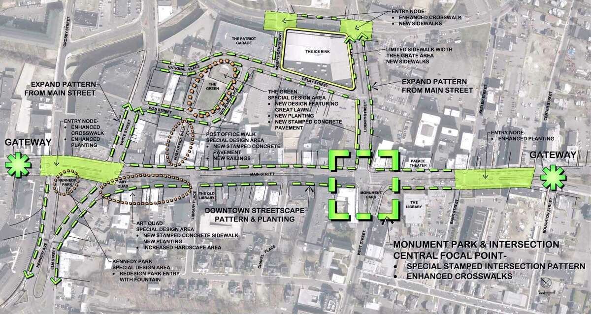 City of Danbury Downtown Streetscape plan. Wednesday, January 15, 2020, Danbury, Conn.