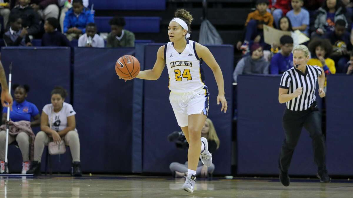 Columbia High graduate Selena Lott of the Marquette women's basketball team. (Courtesy of Marquette athletic department)