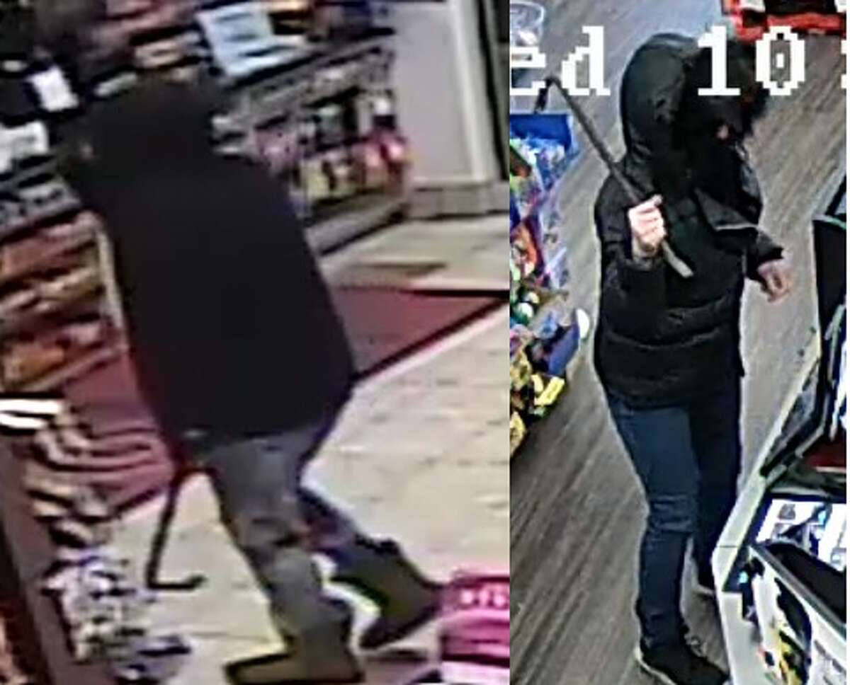 Colonie Police said they made arrests in a robbery and attempted robbery case on Jan. 15, 2020. These are images from the incidents. (Colonie police)