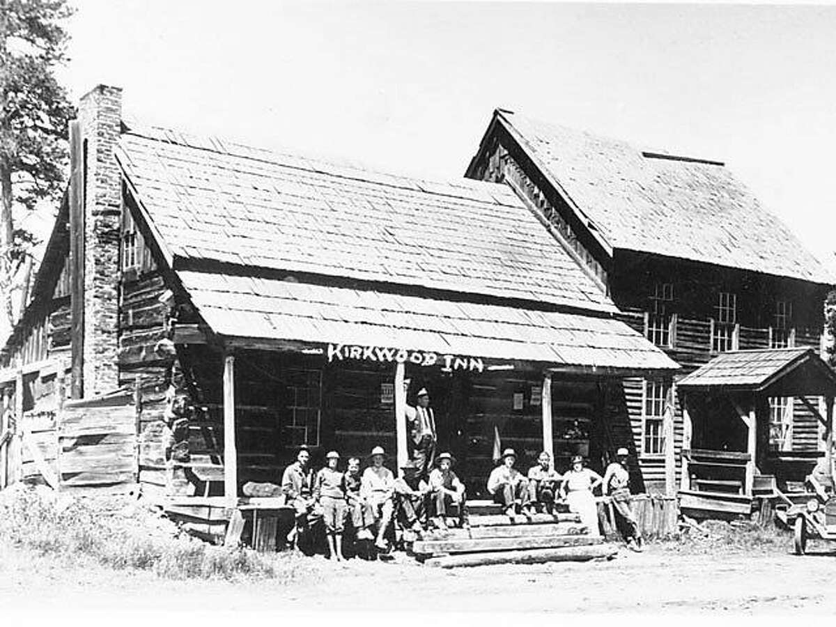 A historic image of the front of the Kirkwood Inn, date unknown.
