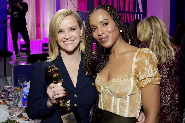 HOLLYWOOD, CALIFORNIA - DECEMBER 11: (L-R) Sherry Lansing Leadership Award honoree Reese Witherspoon and actor-producer Kerry Washington attend The Hollywood Reporter's Power 100 Women in Entertainment at Milk Studios on December 11, 2019 in Hollywood, California. (Photo by Stefanie Keenan/Getty Images for The Hollywood Reporter)