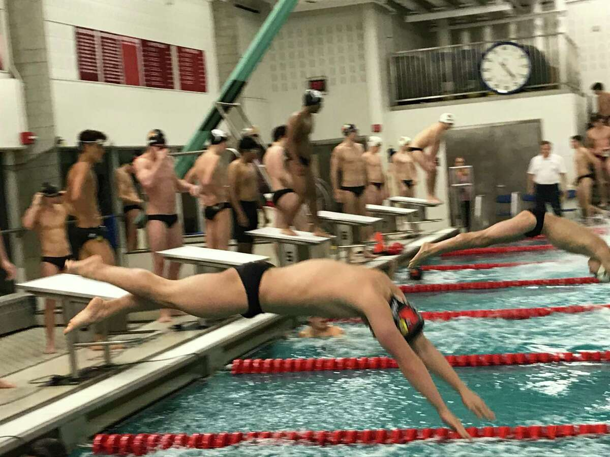 The Greenwich boys swim team improved to 4-0 with a 102-38 win vs. Westhill/Stamford on Wednesday, January 15, 2020, in Greenwich.