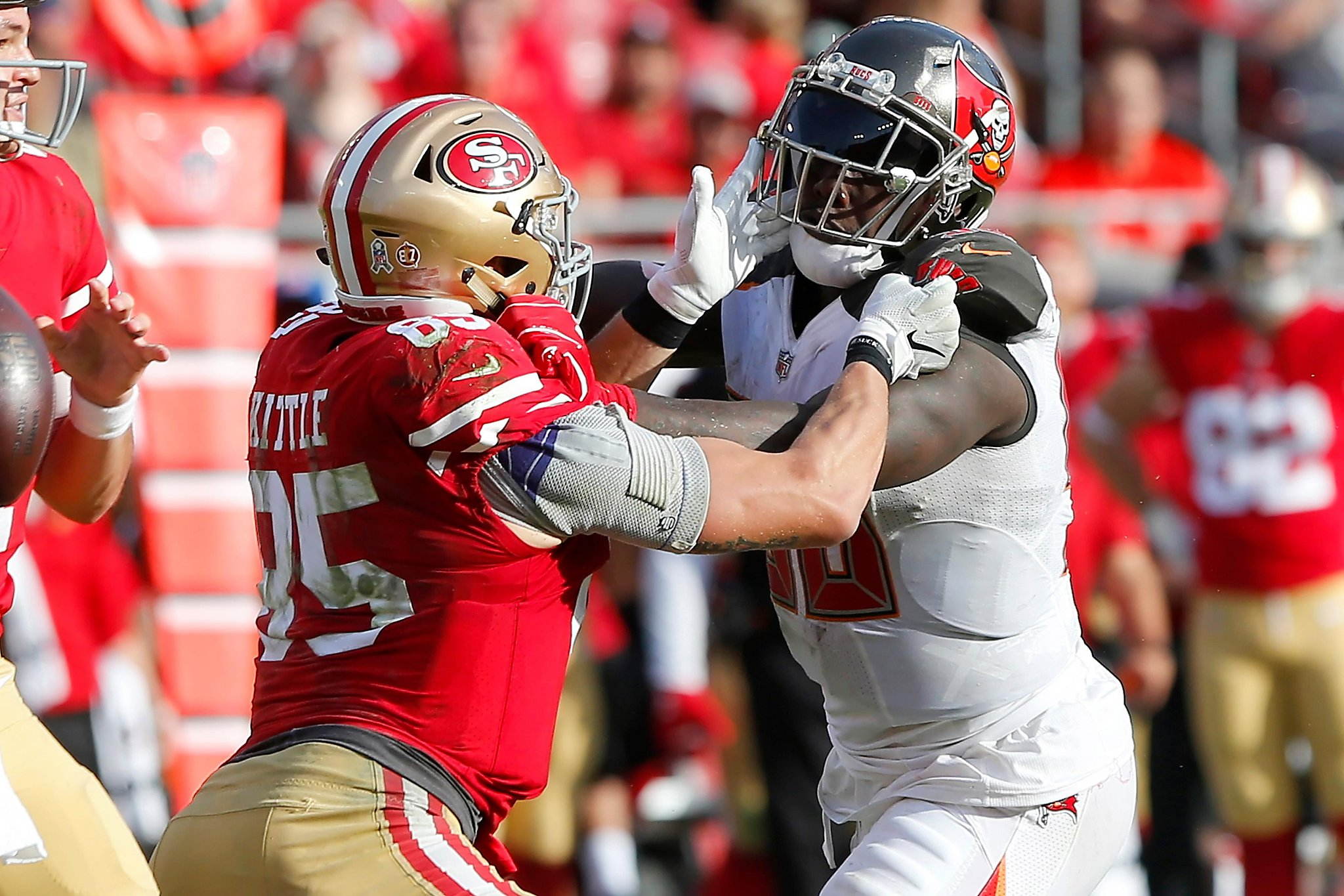 49ers' George Kittle, NFL's most violent blocking TE, can get even better