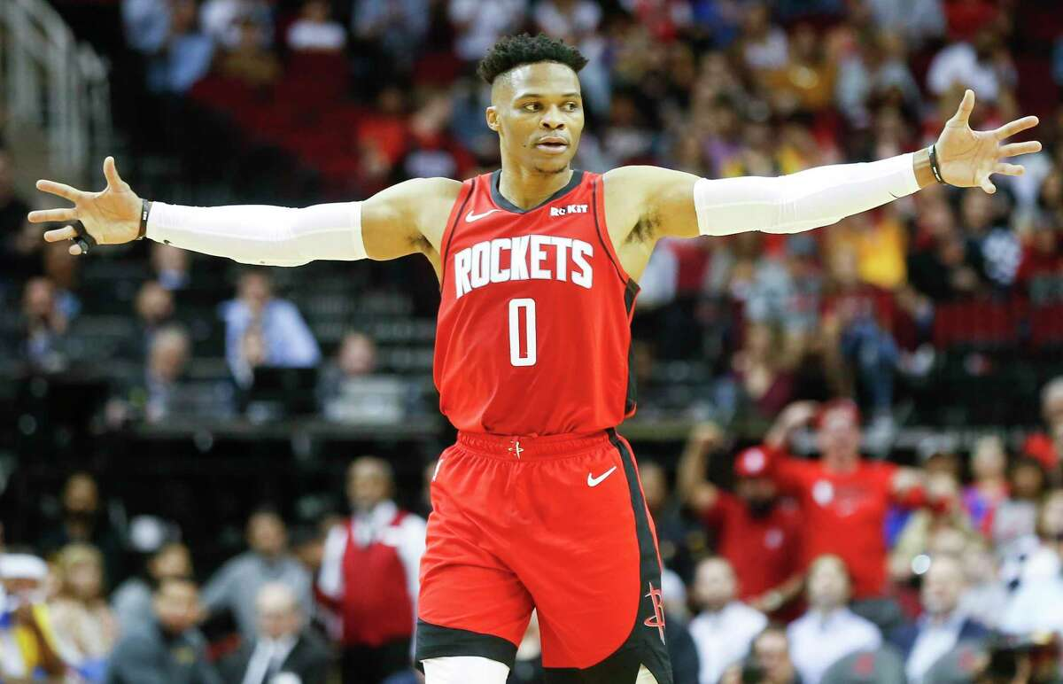 Russell Westbrook and the Rockets are looking to rise from fifth place in the Western Conference.