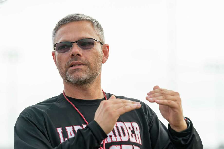 Coach Jason Hopson talks about his goals for his team as the Lady Raiders soccer team of Lumberton High School practice at the school on Wednesday, January 15, 2020. Fran Ruchalski/The Enterprise Photo: Fran Ruchalski/The Enterprise / 2019 The Beaumont Enterprise