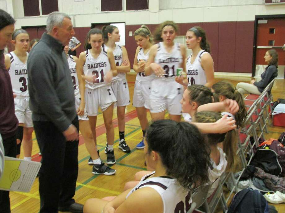 Torrington's much-improved young girls basketball team took a night off in its progress Wednesday night against Oxford at Torrington High School. Photo: Peter Wallace / For Hearst Connecticut Media