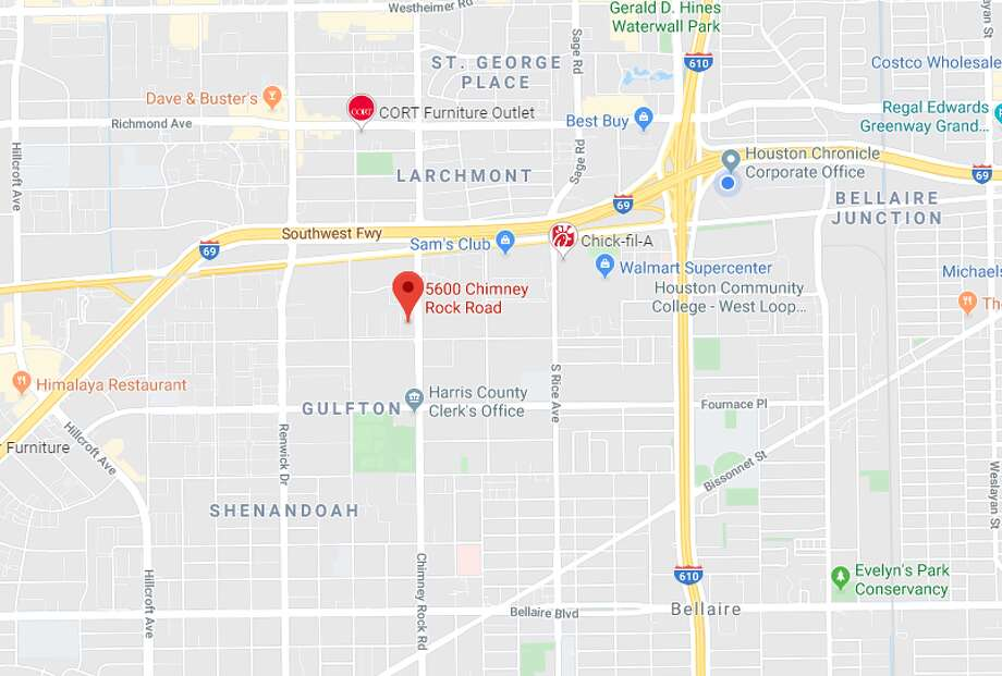 A 19-year-old man was killed late Wednesday in a shooting in the 5600 block of Chimney Rock, according to Houston police. Photo: Google Maps