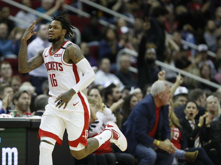 PHOTOS: 2019-20 Rockets game-by-game Houston Rockets guard Ben McLemore (16) after hitting a three-pointer in the second half of an NBA basketball game at Toyota Center, in Houston, Wednesday, Jan. 15, 2020. >>>See how the Rockets have fared in each game this season ... Photo: Karen Warren/Staff Photographer