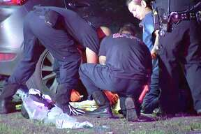 San Antonio police are investigating after a woman was found dead in the yard near the 800 block of Olmos Drive Wednesday night.