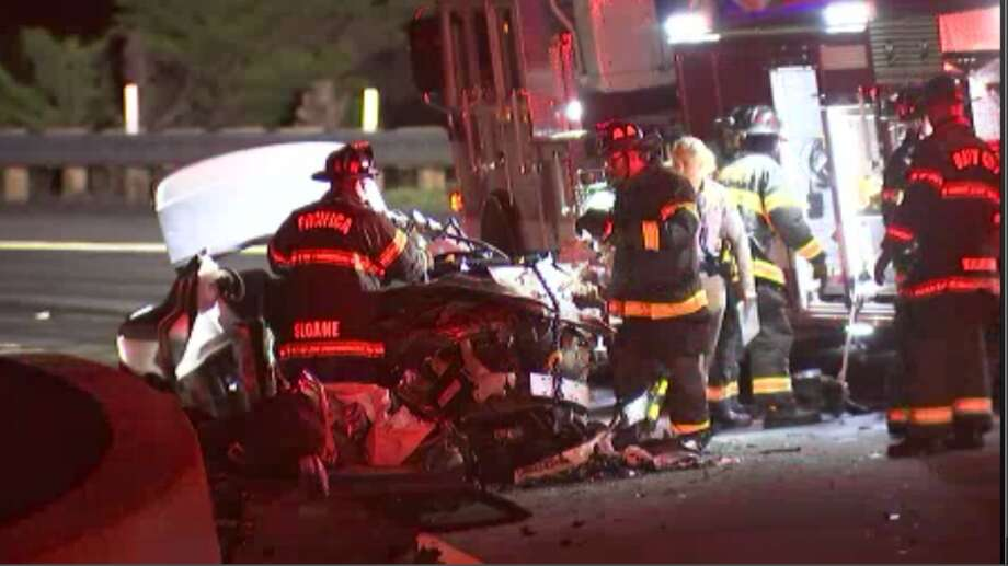 At least one person has died in a traffic collision on state Highway 1 in Pacifica early Thursday morning, according to the California Highway Patrol. Photo: KTVU