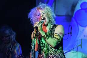 "Nederland native-turned-New Yorker Amber Martin as Janis Joplin in her show ""Janis: Undead."" Amber Martin is Janis: Undead, at the Cutting Room October 22, 2015"