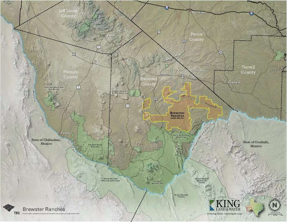 Brewster Ranches spans 420,000 acres near Big Bend National Park, stretching from the Rio Grande to the town of Marathon. Photo: King Land And Water