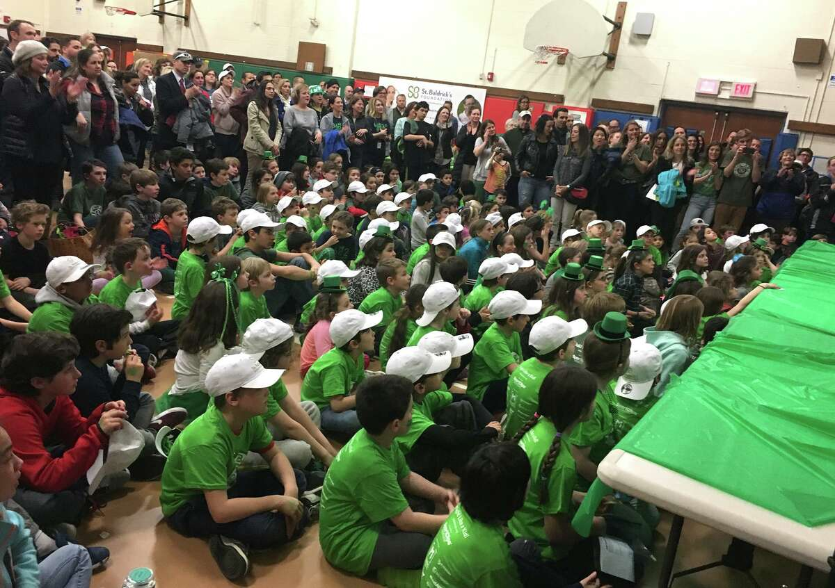 Stratfield School holds a St. Baldrick's event at the school in Fairfield in 2018 to raise money for pediatric cancer research.