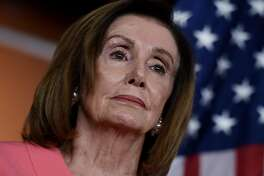 """Speaker of the House Nancy Pelosi (D-CA) speaks at a press conference to announce the impeachment managers on Capitol Hill January 15, 2020, in Washington, DC. - House Intelligence Committee chairman Adam Schiff will lead the prosecution of President Donald Trump at his impeachment trial in the Senate, House speaker Nancy Pelosi announced January 15, 2020. Schiff, a Democratic lawmaker from California, would be the House """"lead manager"""" at Trump's Senate trial expected to begin on Tuesday, Pelosi said. Schiff led the House investigation that resulted in Trump's December 18 impeachment for abuse of power and obstruction of Congress. (Photo by OLIVIER DOULIERY / AFP) (Photo by OLIVIER DOULIERY/AFP via Getty Images)"""