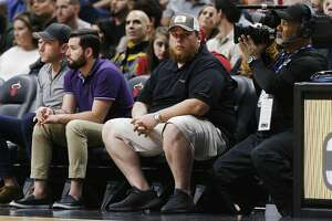 MIAMI, FLORIDA - JANUARY 15: Country music artist Luke Combs attends the game between the Miami Heat and the San Antonio Spurs at American Airlines Arena on January 15, 2020 in Miami, Florida. NOTE TO USER: User expressly acknowledges and agrees that, by downloading and/or using this photograph, user is consenting to the terms and conditions of the Getty Images License Agreement. (Photo by Michael Reaves/Getty Images)
