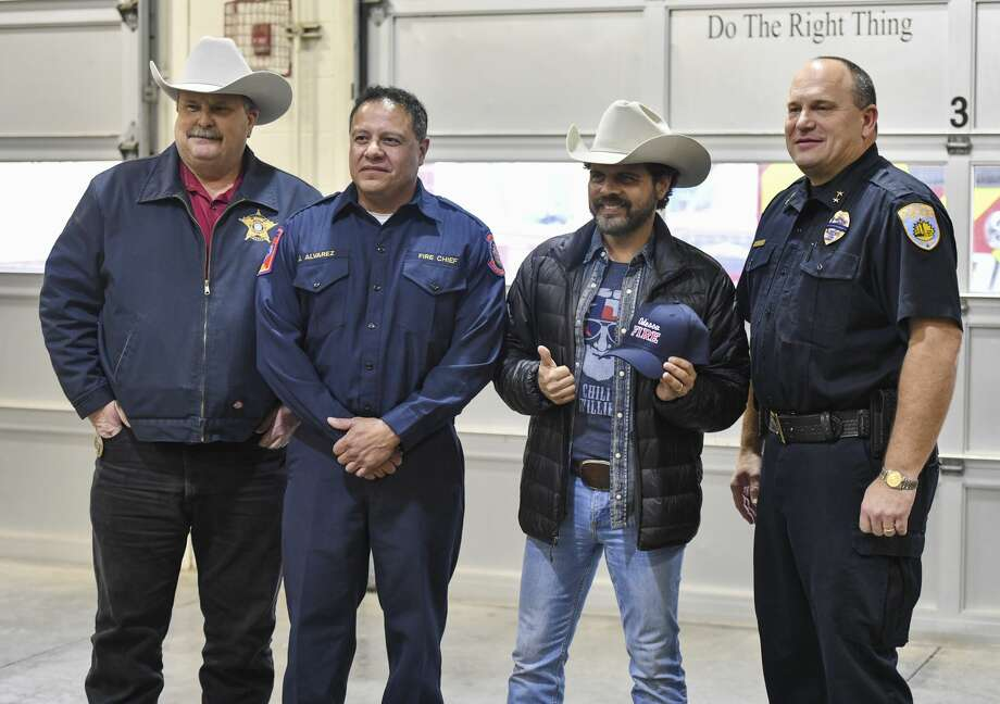 Country artist Rick Trevino visits first responders at the Central Fire Station truck bay on Wednesday, Jan. 15, 2019 in Odessa, Texas. Jacy Lewis/Reporter-Telegram Photo: Jacy Lewis/Reporter-Telegram