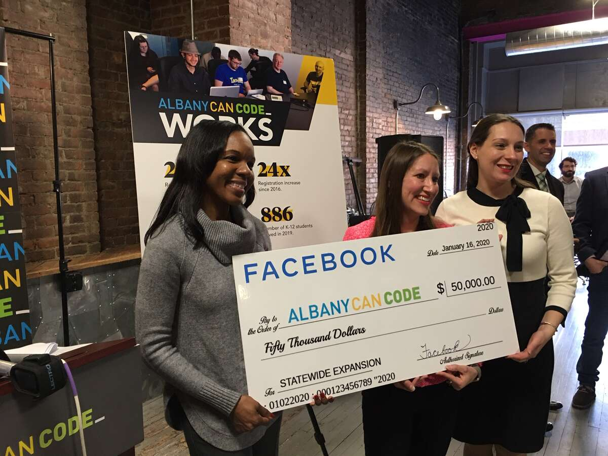 Facebook announces $50,000 grant to support expansion of AlbanyCanCode, which is now known as CanCode Communities