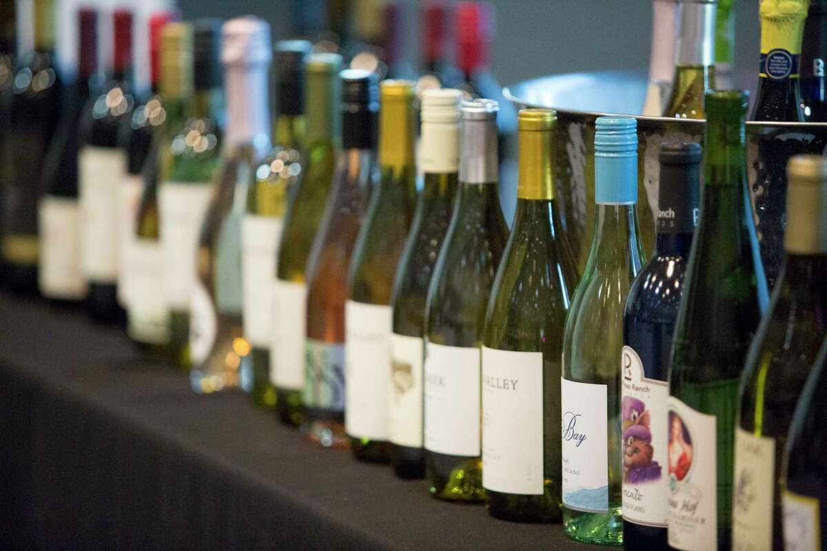 A selection of wines that were taste tested for the wine competition. Winners will be served throughout the duration of the Feb. 6-23 San Antonio Stock Show & Rodeo.