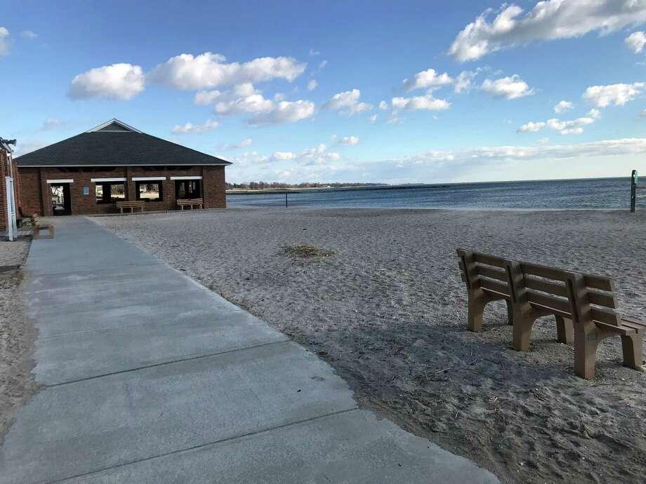 Compo Beach in Westport on Jan. 16, 2020. Photo: DJ Simmons /Hearst Connecticut Media /
