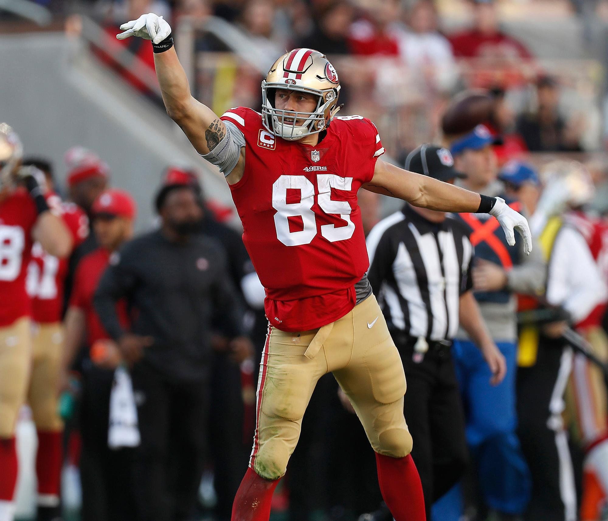 49ers' George Kittle on his sore ankle: 'I feel fabulous. Thanks for asking'