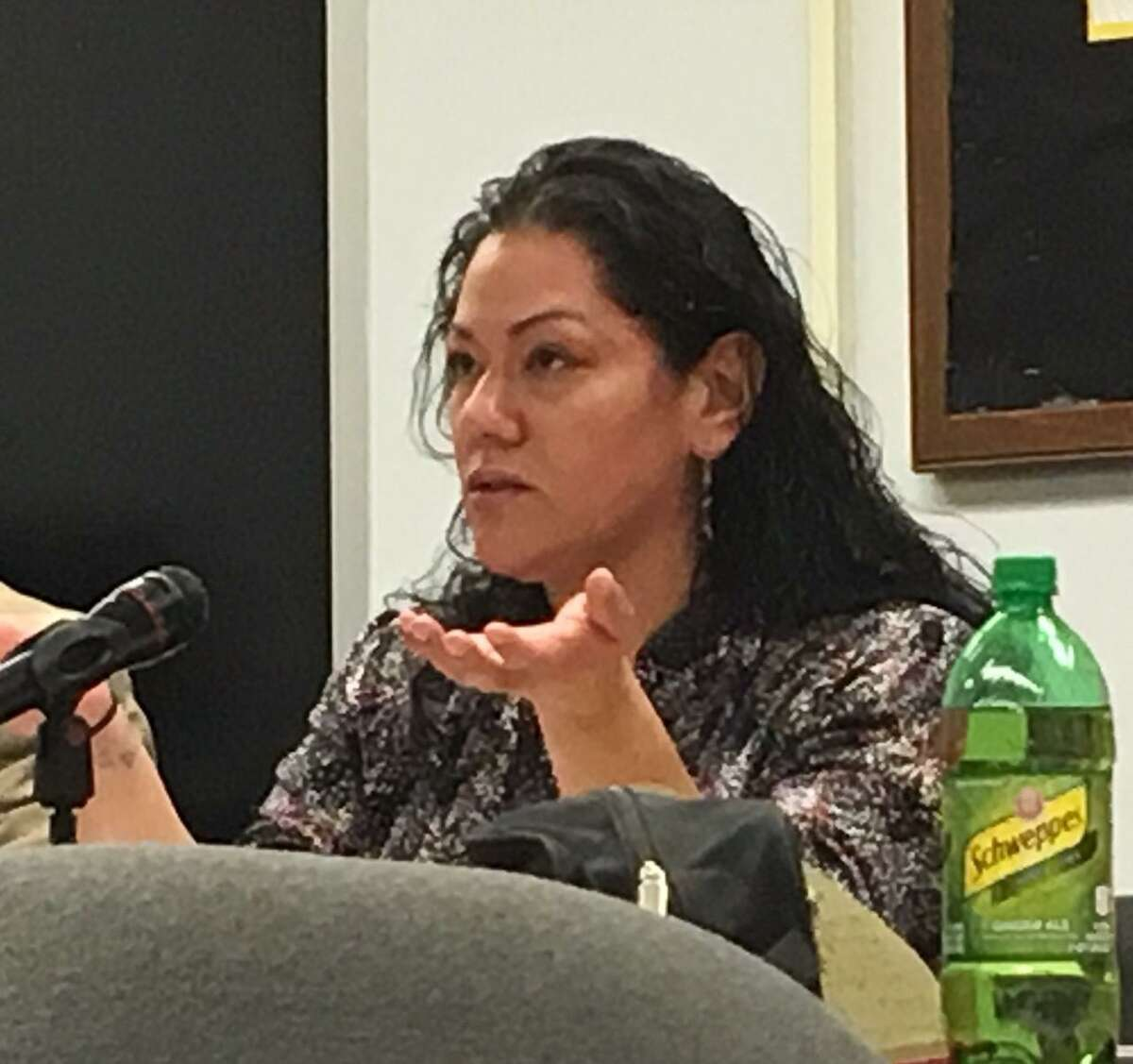 Jessica Martinez at Board of Education meeting on Jan. 15.