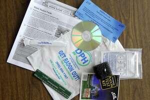 File photo of an old radon test kit.