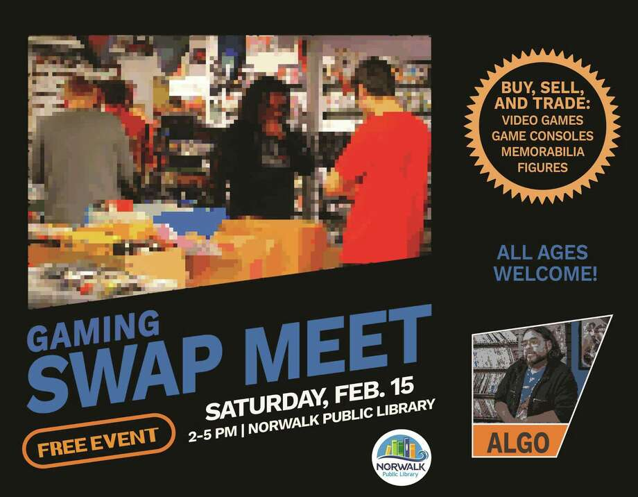 Norwalk Library is hosting its first gaming swap meet Feb. 15. Photo: Www.norwalkpl.org