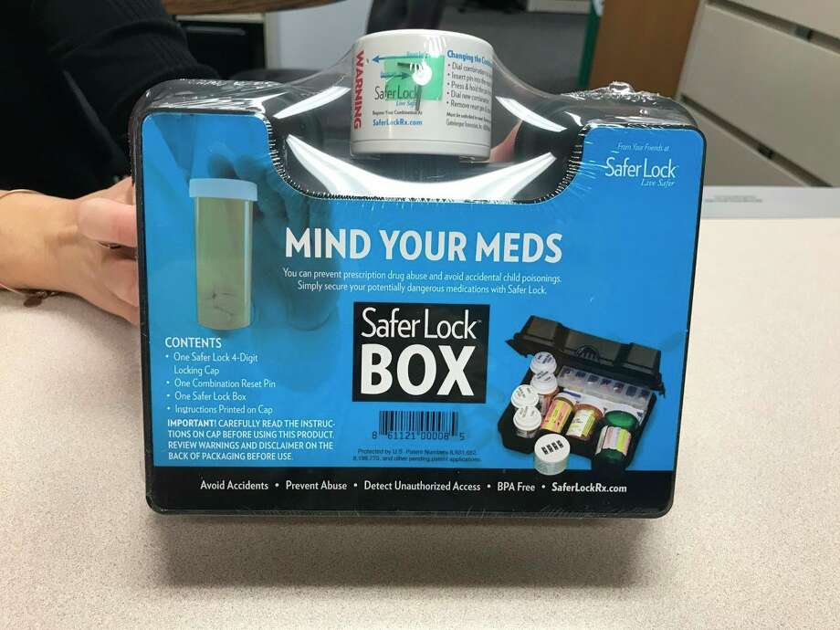 The Huron County Health Department is offering free medication lockboxes, which have been made available thanks to grant money. (Courtesy Photo/Mitzi Koroleski)