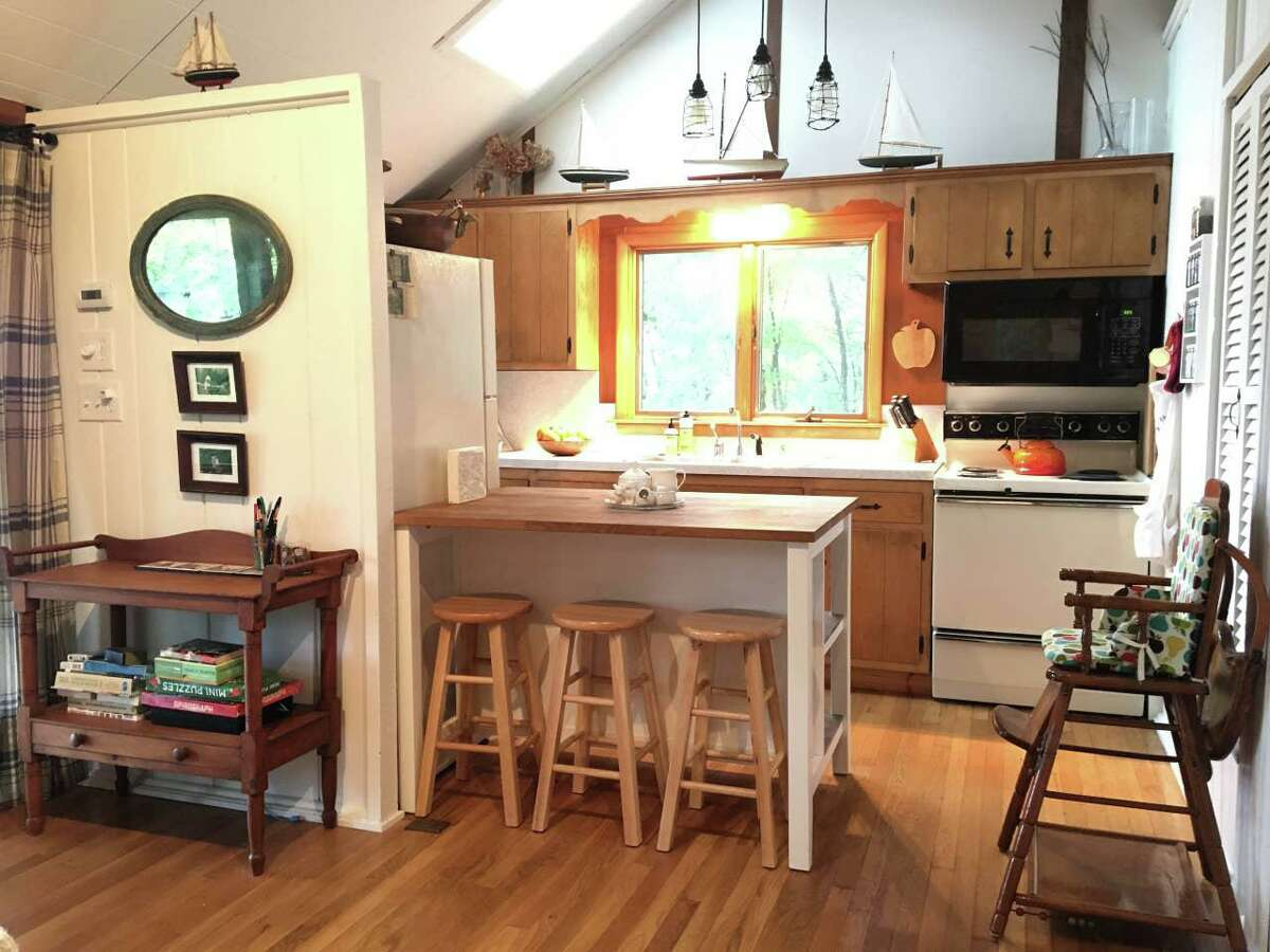 A rental cabin the private Candlewood Knolls community. View the Airbnb listing here.