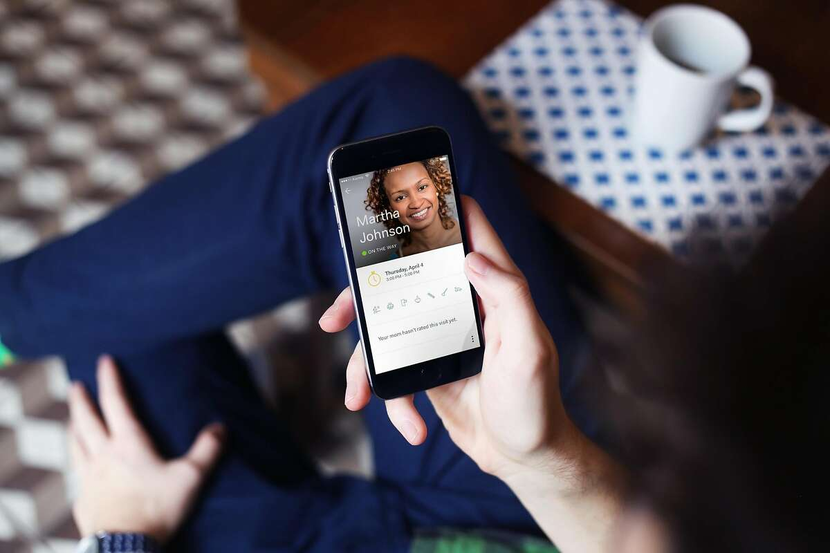 Honor will provide a smartphone app for seniors' families so they can keep tabs on when a caregiver visits their family member.