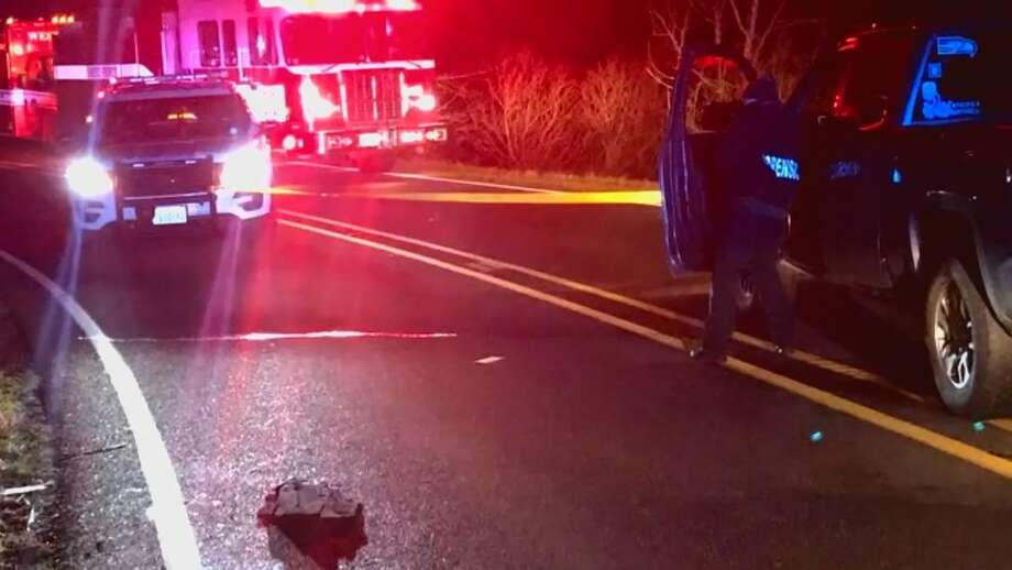 Pierce County deputies investigate a deadly road rage shooting (Pierce County Sheriff's Department photo) Photo: Pierce County Sheriff's Department Photo