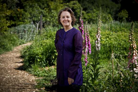 Alice Waters stands in the Edible Garden at Martin Luther King Middle School in Berkeley, Calif. on Friday, April 30, 2010.
