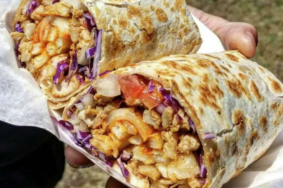 The popular Coreanos food truck offering Korean barbecue in tacos, burritos and quesadillas, can be found at Little Woodrow's in Midtown.