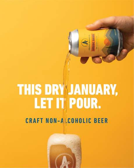 "An Athletic Brewing Company ad focuses on ""sober January."" Athletic brewing Company is a nonalcoholic brewery based in Stratford, Conn. Photo: Athletic Brewing Company"