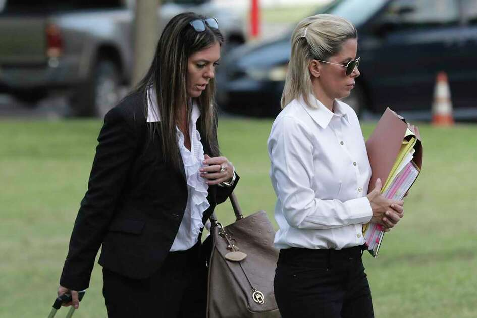 Holly Blakely, then 45, right, arrives at the Federal Courthouse in San Antonio with her lawyer, Robbie Ward, on July 30, 2019 for her sentencing hearing. She had pleaded guilty in February to conspiracy to commit wire fraud involving health care fraud in a scheme that prosecutors said netted her more than $1 million. That sentencing was delayed until Thursday, when Senior U.S. District Judge Fred Biery sent her to prison for 30 months and ordered her to pay $1.7 million in restitution.