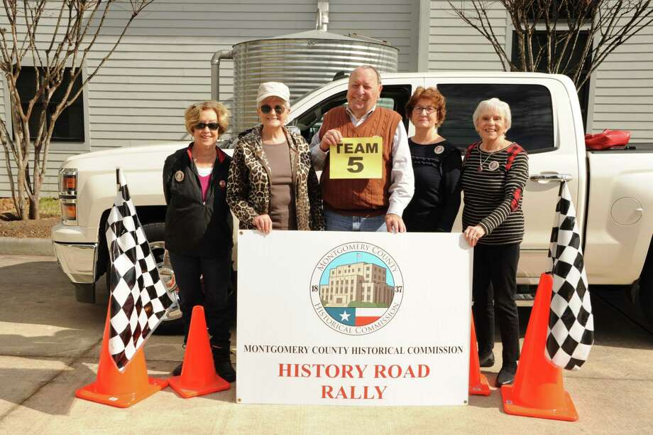 "Pat George, center, and his ""Not Quite Over the Hill Gang"" team at the 2019 History Road Rally. This year, the 7th Annual History Road Rally is dedicated to the memory of George who passed away in October. Photo: Photo Courtesy The Montgomery County Historical Commission"