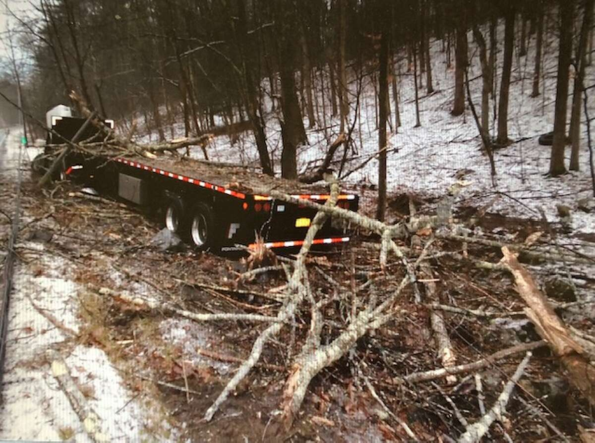 This was the scene of a tractor-trailer crash along Route 66 in Nassau on Jan. 16, 2020.