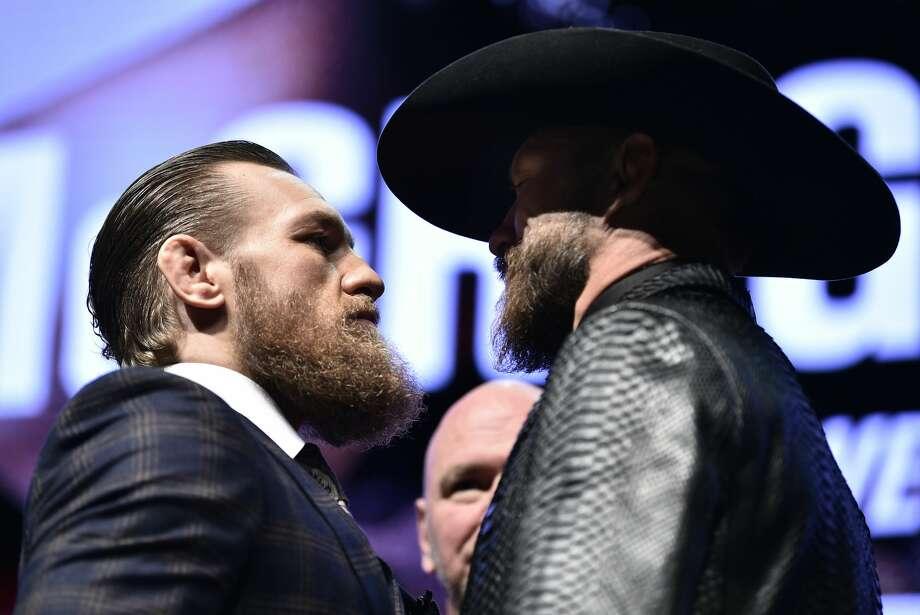 "Conor McGregor faces ""Cowboy"" Donald Cerrone at UFC 246 on Saturday, Jan. 18. Photo: Getty Images / 2020 Chris Unger"