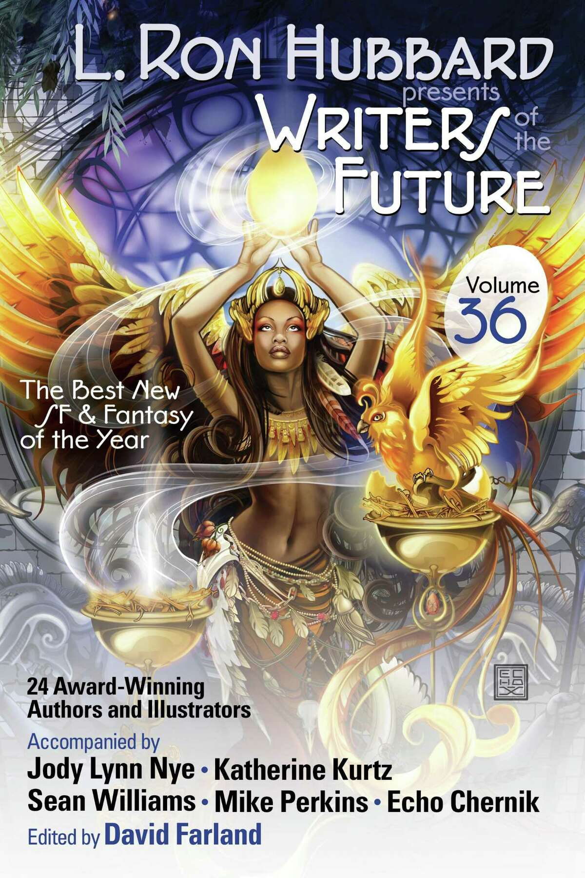 The upcoming issue of the L. Ron Hubbard Presents Writers of the Future anthology