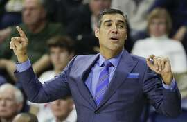 Villanova head coach Jay Wright in a December 2018 file image. On Tuesday, Jan. 14, 2020, Wright's Wildcats played host to DePaul, outlasting the visiting Blue Deamons, 79-75, in overtime. (Yong Kim/Philadelphia Daily News/TNS)