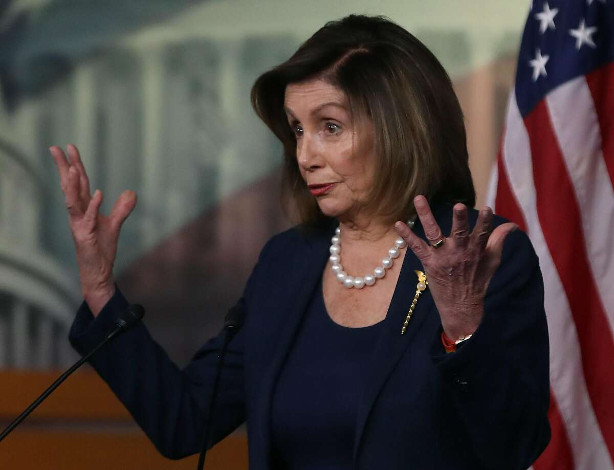 Speaker of the House Nancy Pelosi (D-CA) speaks during her weekly news conference on Capitol Hill, on January 16, 2020 in Washington, DC. Yesterday Pelosi named seven impeachment managers to prosecute the Senate impeachment trial against U.S. President Donald Trump.