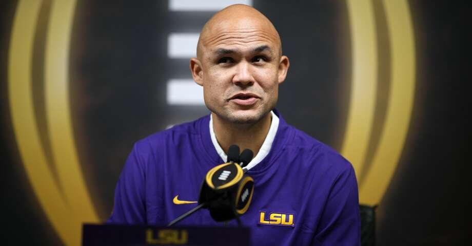 NEW ORLEANS, LOUISIANA - JANUARY 11: Dave Aranda of the LSU Tigers attends media day for the College Football Playoff National Championship on January 11, 2020 in New Orleans, Louisiana. (Photo by Chris Graythen/Getty Images) Photo: Chris Graythen/Getty Images