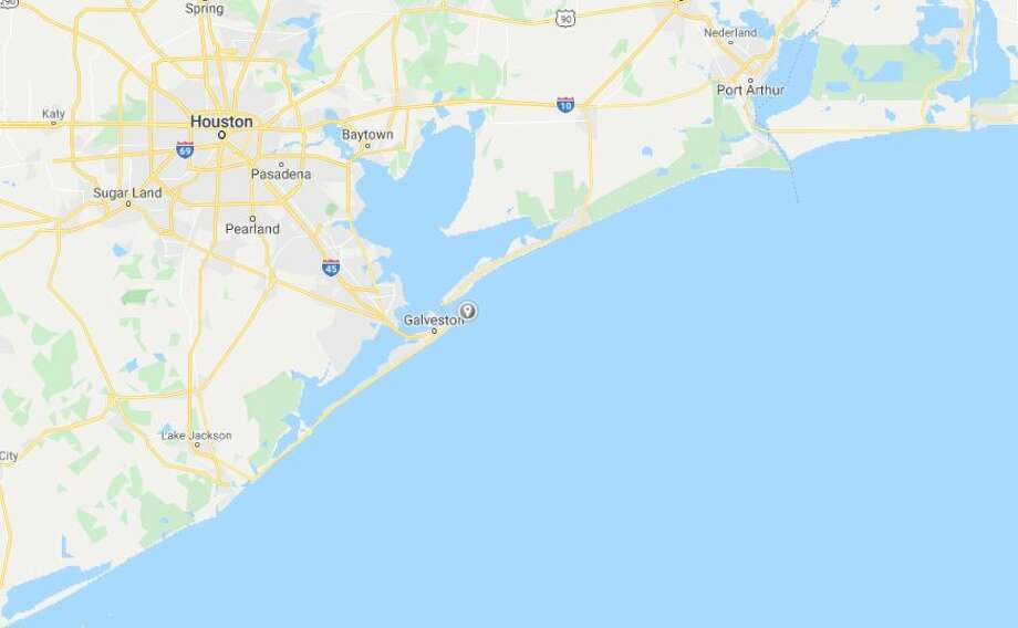 Google Maps view of the Galveston jetties area, where a search was conducted for missing boaters. Photo: Google Maps