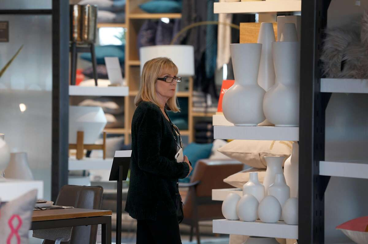 Jeannie Rudolph shops for home furnishings at a new West Elm store at the Hillsdale Shopping Center in San Mateo, Calif. on Wednesday, Jan. 15, 2020. The shopping center underwent an extensive renovation.